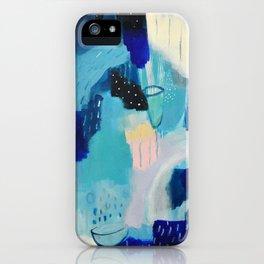 Blue love iPhone Case
