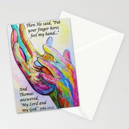 Nail Prints in His Hands Stationery Cards