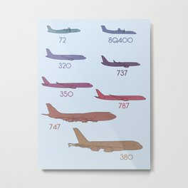 Airplanes of the world Metal Print