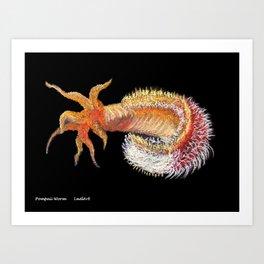 Pompeii worm Art Print