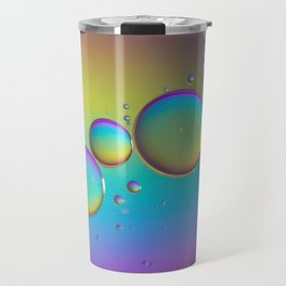 Multicolored abstract background picture made with oil, water and soap Travel Mug