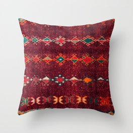 -A8- Colored Traditional Moroccan Carpet Artwork. Throw Pillow
