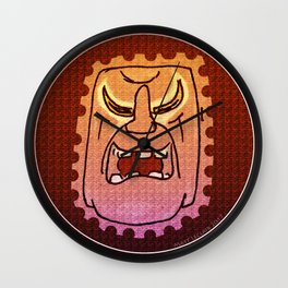 Warrior Mask - Harold Wall Clock