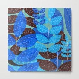 Exotic Blue Metal Print