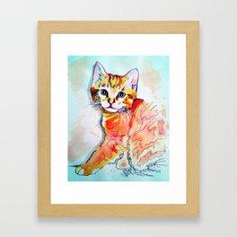 Orange Kitty Framed Art Print