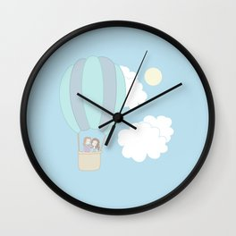 Rumbelle Balloon Flight Wall Clock