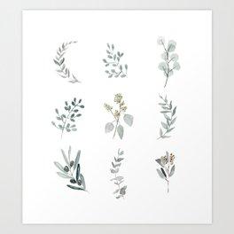 Botanical elements Kunstdrucke