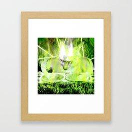 Crazy DJ Cat Framed Art Print