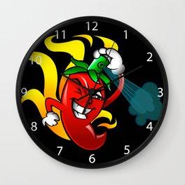 pepper gas cartoon Wall Clock