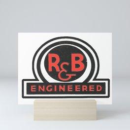 Vintage retro industrial look logo Mini Art Print