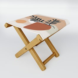 Geometric Shapes Folding Stool