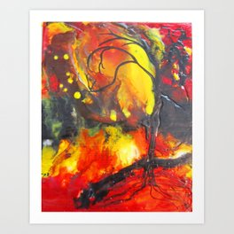 Fire Tree Art Print
