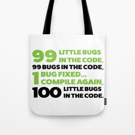 Little bugs in the code Tote Bag