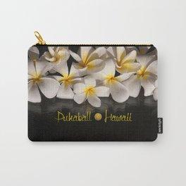 Hawaii Pukaball Plumeria Carry-All Pouch