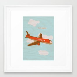 A is for aeroplane Framed Art Print
