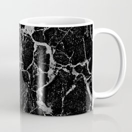 Black Marble with White Veining Coffee Mug