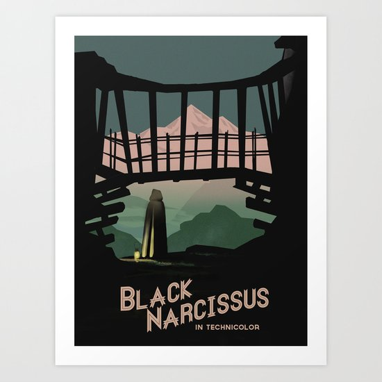 Black Narcissus Art Print