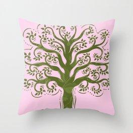 Wild Tree Throw Pillow
