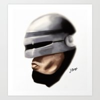 robocop Art Prints featuring Robocop. by Jamie Briggs