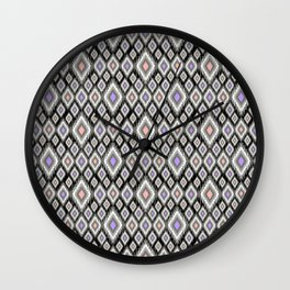 Bright ethnic pattern. Wall Clock