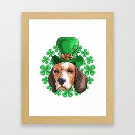 Beagle Saint Patricks Day Framed Art Print
