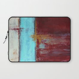 Commandment - Textured Abstract Painting Laptop Sleeve