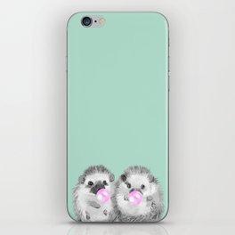 Playful Twins Hedgehog iPhone Skin