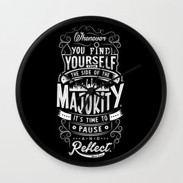 Lab No. 4 Whenever You Find Yourself Mark Twain Quotes Wall Clock