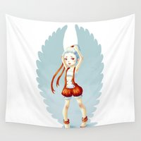 dancer Wall Tapestries featuring Dancer by Freeminds