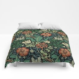 William Morris Compton Floral Art Nouveau Pattern Comforters