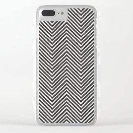 chevron painted Clear iPhone Case