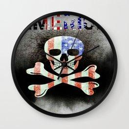 AMERICA SKULL Wall Clock