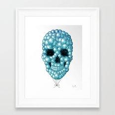 Skull Balloons Framed Art Print