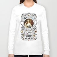 marie antoinette Long Sleeve T-shirts featuring Ornate Marie Antoinette by Ryan Huddle House of H