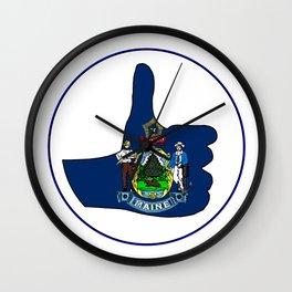 Thumbs Up Maine Wall Clock