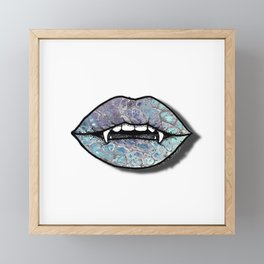 Bite IV; Otherworldly Framed Mini Art Print