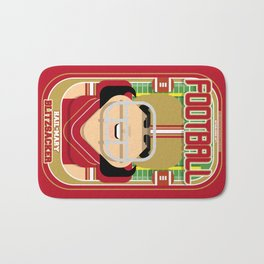 American Football Red and Gold -  Hail-Mary Blitzsacker - Amy version Bath Mat