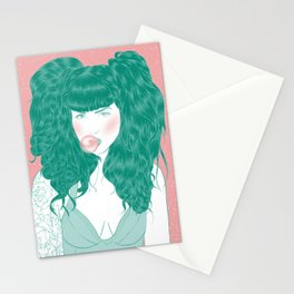 Green Stationery Cards