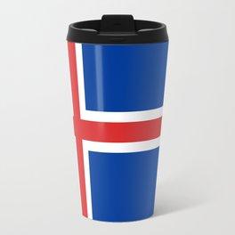 Flag of Iceland - High Quality Image Travel Mug