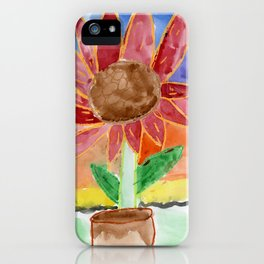 Flower in the Sunset iPhone Case
