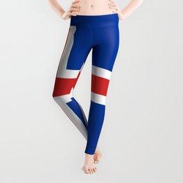 National flag of Iceland Leggings