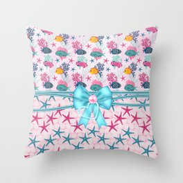 Little Treasures From Sea Throw Pillow