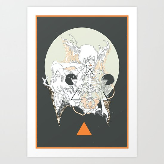 moon stone Art Print
