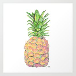 Brite Pineapple Art Print