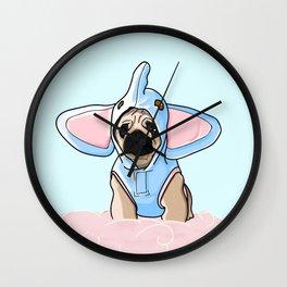 Pug Elephant Costume Wall Clock