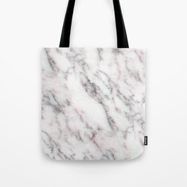 Soft Pink and Charcoal Veins on Whipped Cream Marble Tote Bag