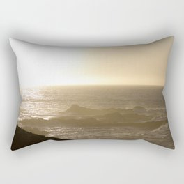 California Ocean at sunset Rectangular Pillow