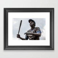 Billy Williams Statue - Wrigley Field Framed Art Print