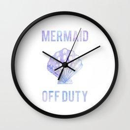 Mermaid Off Duty - Purple & Blue Seashell Wall Clock