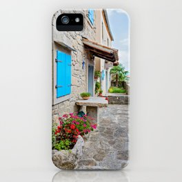 Town of Hum old cobbled street view iPhone Case